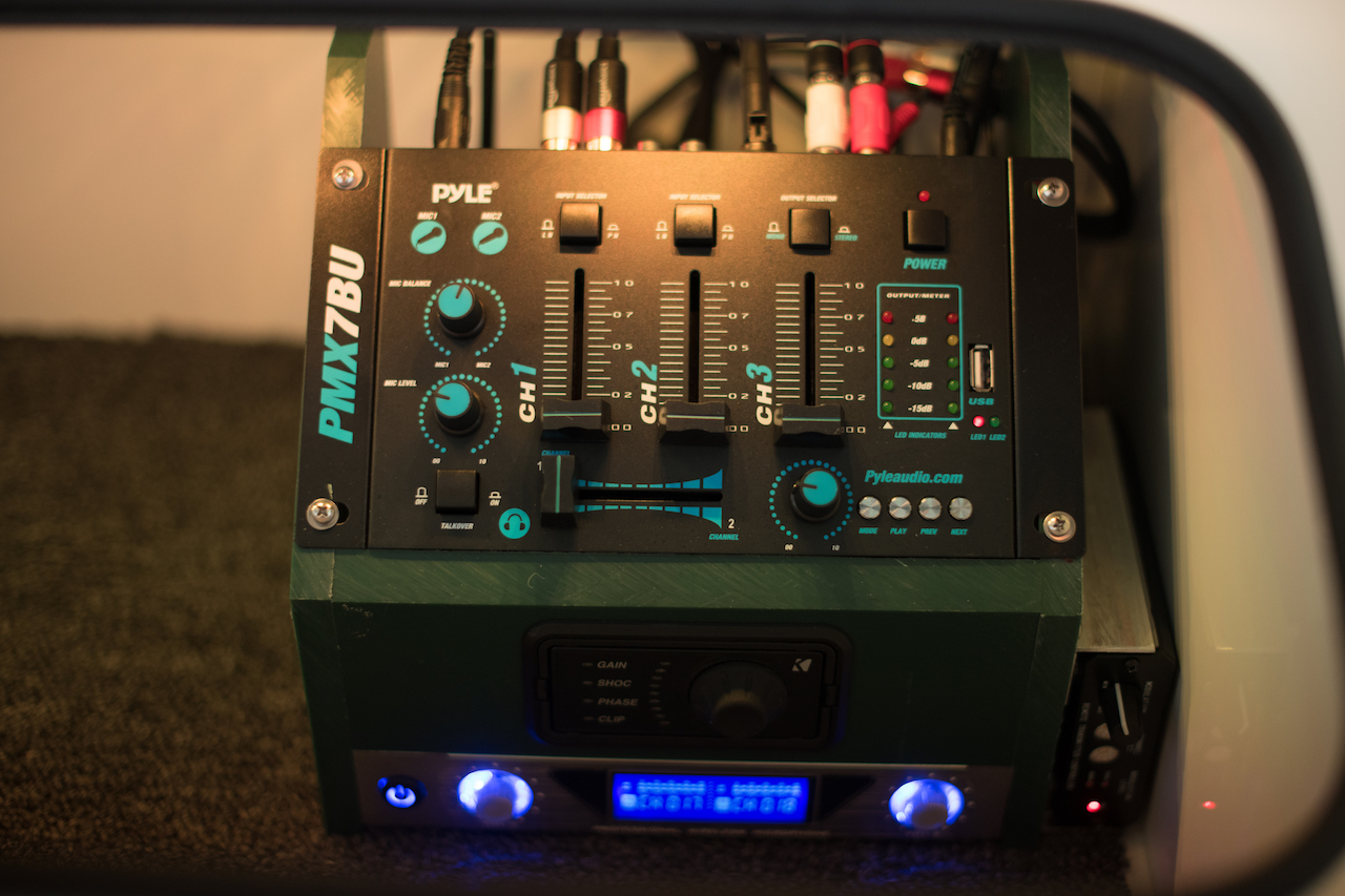 Bluetooth &USB Input   Capable of playing pre-recorded messages or promotion loops via USB    Control Microphones or external inputs