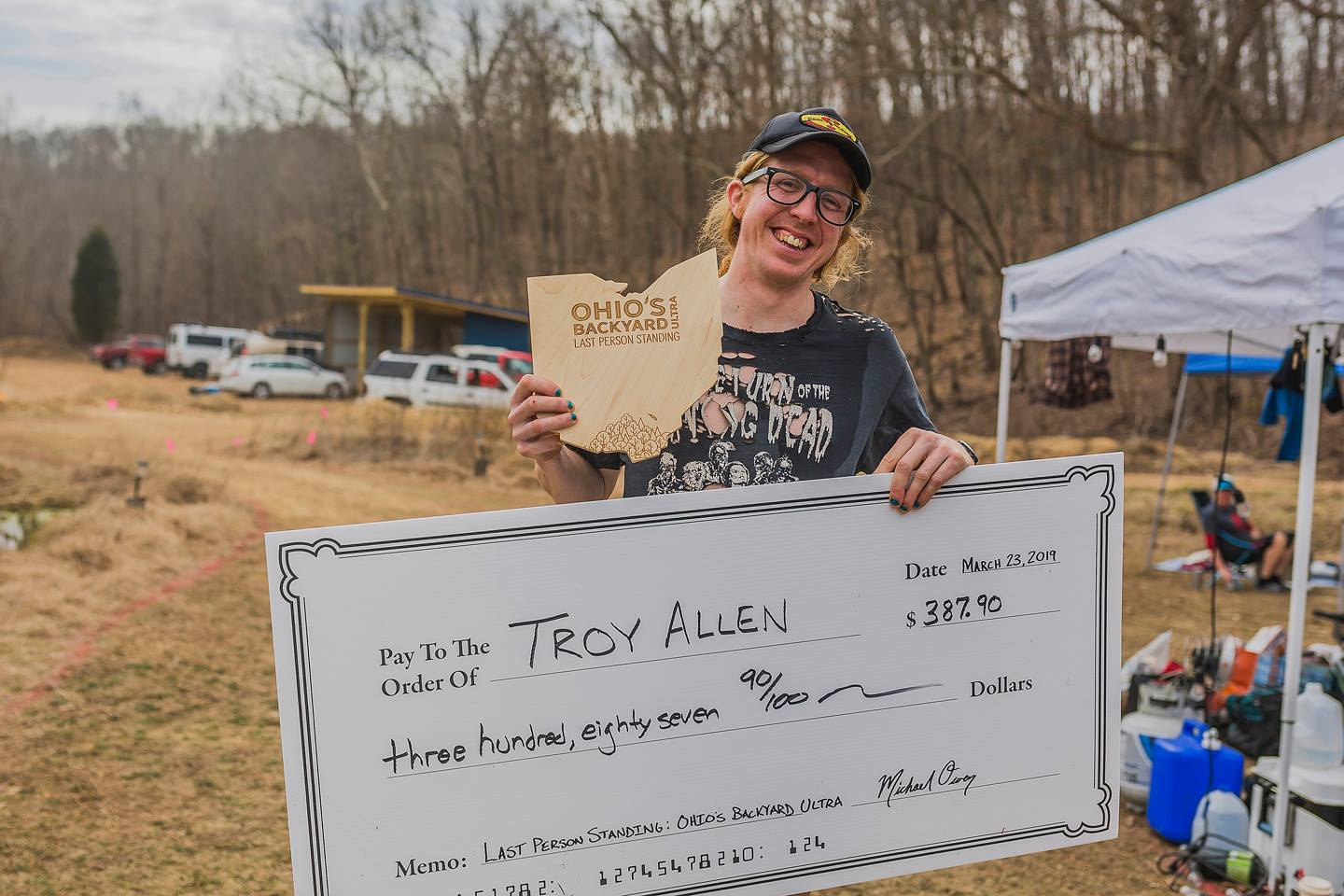 Troy Allen, last person standing.Total distance: 130 miles! -