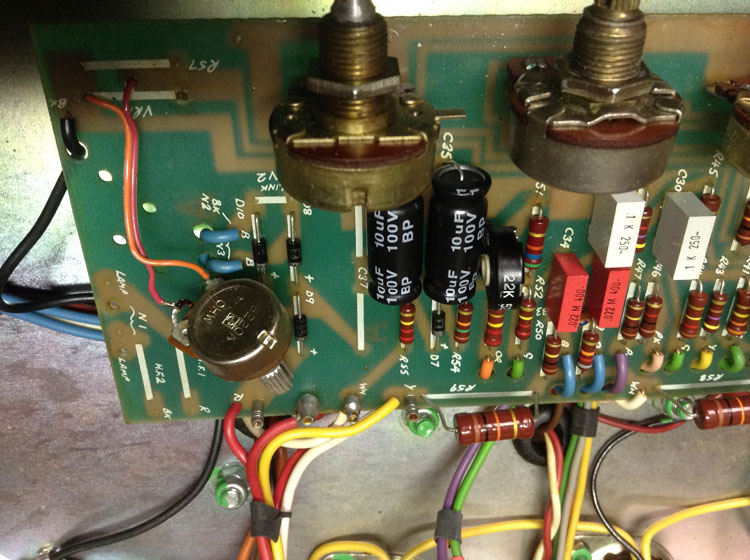 The replacement reverb control that the amp was received with.