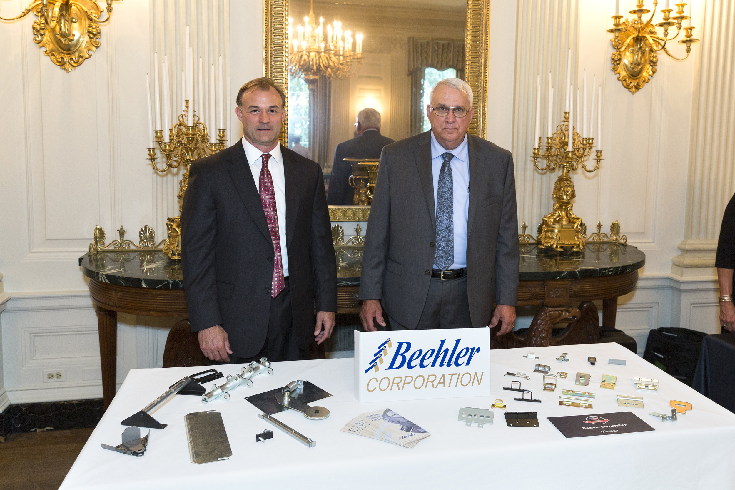 Beehler Corporation of Missouri, representatives Peter Fischer and Bill Manville, is one of the 50 state products on display during the Made in America Product Showcase, Monday, July 17, 2017 (Official White House Photo by Michael Lyons)