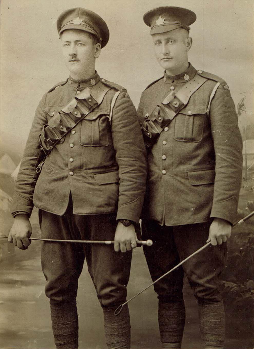 Right: John Alexander (Sandy) Robinson, veteran of the First World War