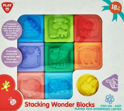 The Stacking Wonder Blocks by Playgo are embossed on each side so the little ones can sort by numbers, patterns, and colours. The blocks encourage vocabulary recognition and hand-eye coordination, and are great for toddlers aged 18 months and up.