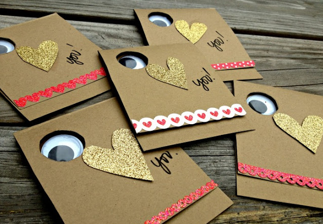 All you need is some  Wiggle Eyes  and paper! Original design found  here .