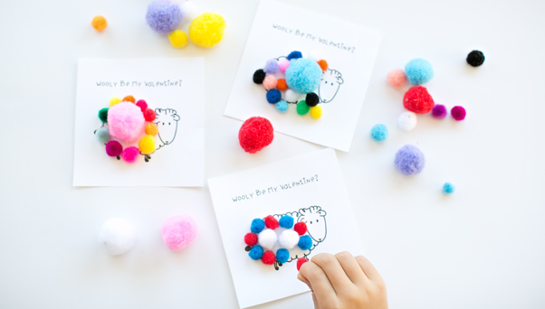 Get the sheep printable here, and pick up some pom poms  here .