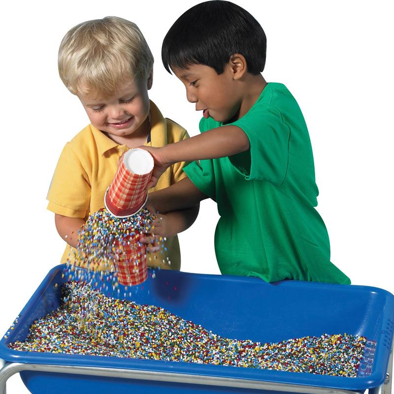 Kidfetti is a great alternative to sand and water!