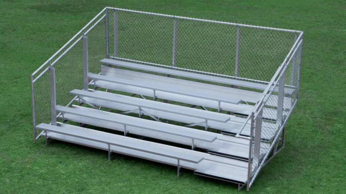 Bleachers   Both permanent and portable bleachers are available. Many sizes available.