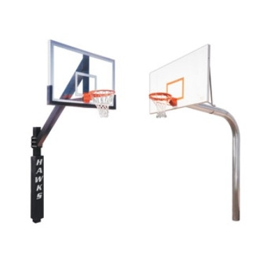 Basketball Goals   Available in fixed height and adjustable posts with either acrylic or steel backboards. Breakaway rim option.