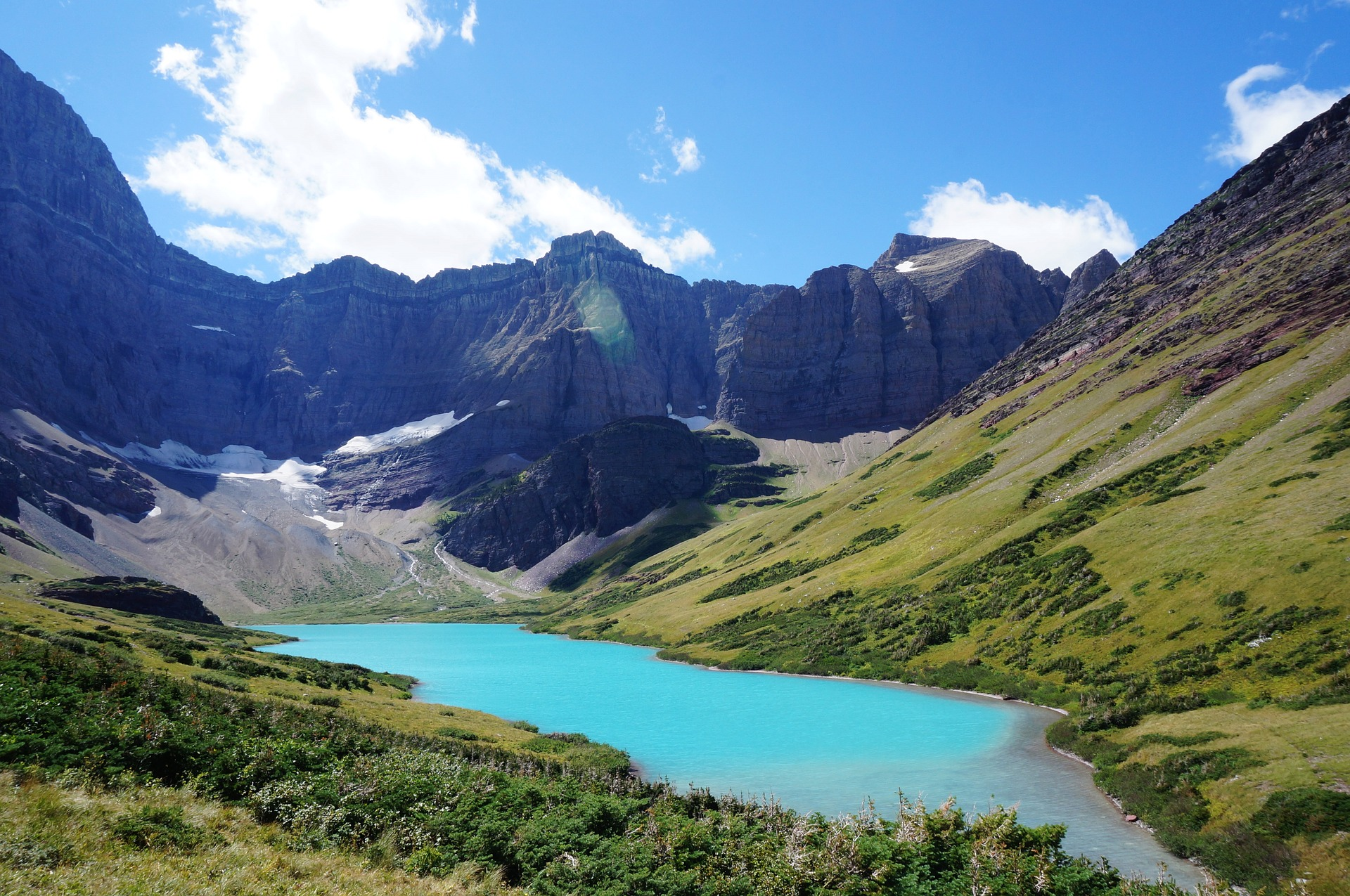 cracker lake is beautiful and some consider it to be the best hiking trail in america
