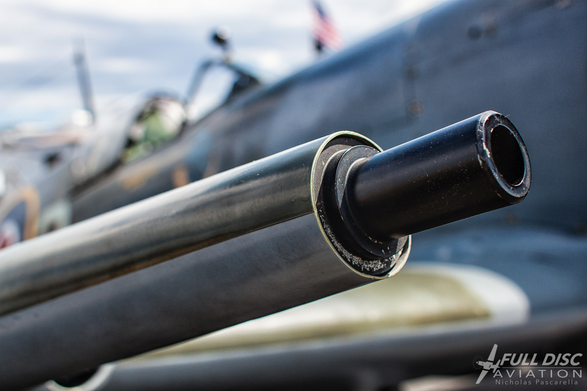 Spitfire Cannon f/5.0, 1/400, ISO 100...the aperture is almost wide open here, showing a nice depth of field.