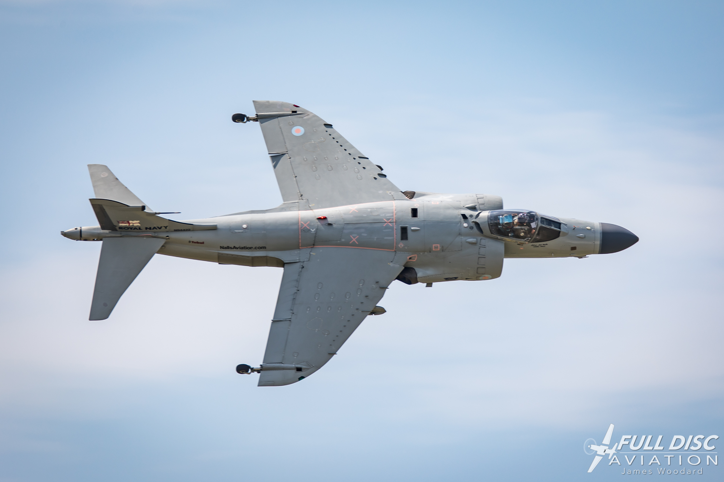 Putting the Sea Harrier to work during the 2018 Manassas Air Show.