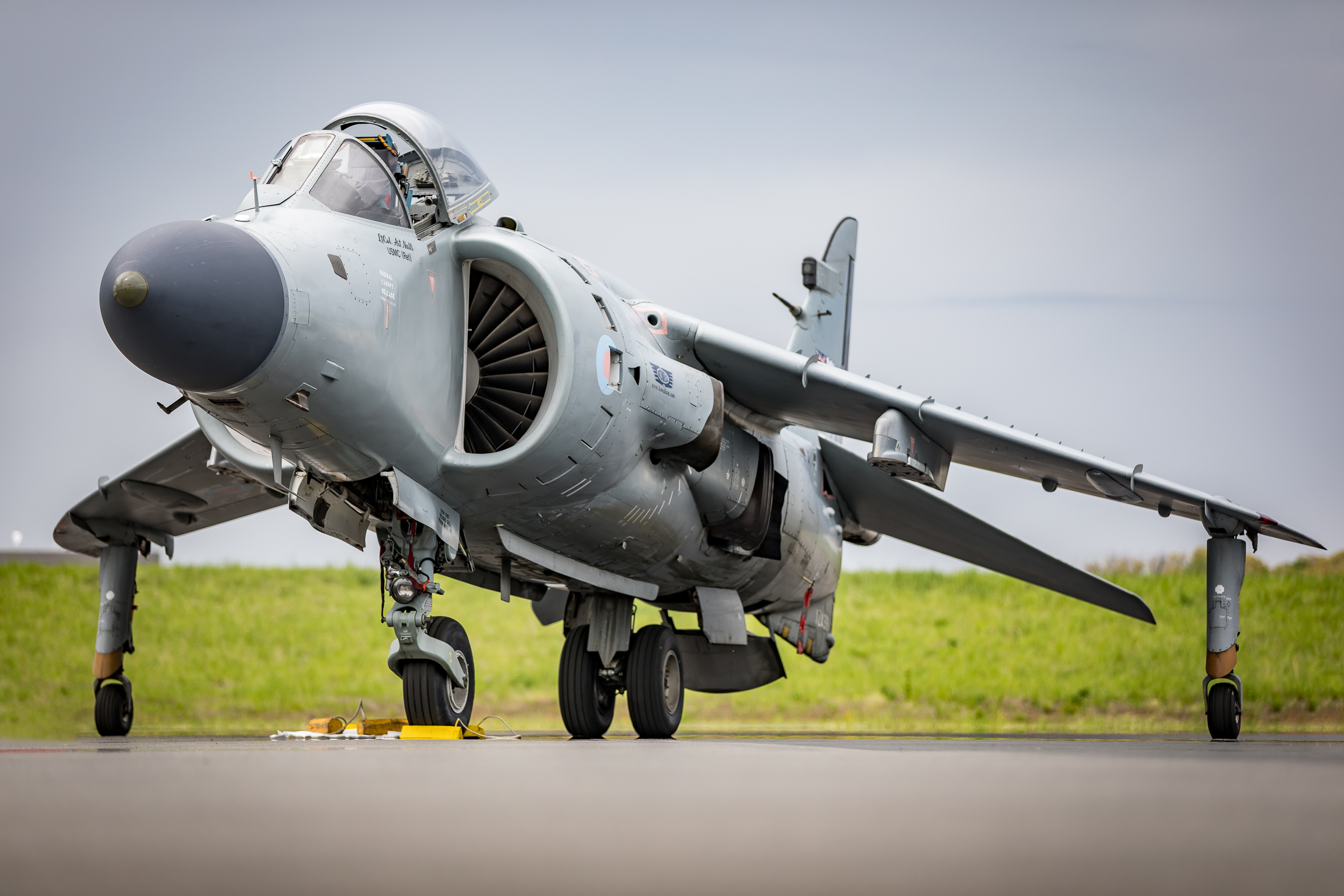 Art's Sea Harrier after performing at the 2018 Manassas Air Show.