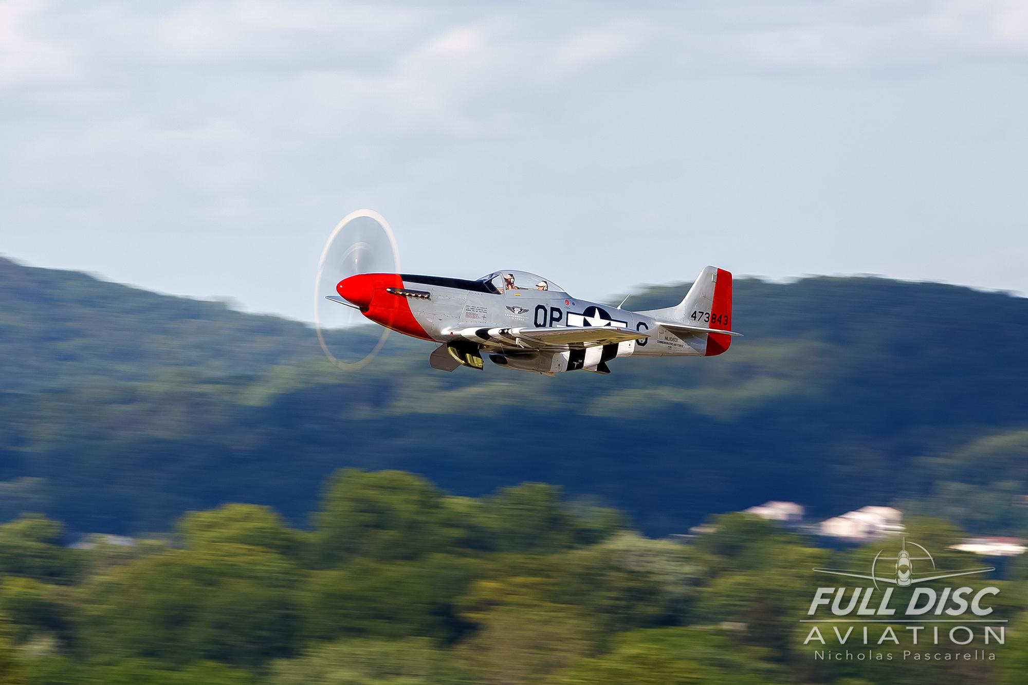 nickpascarella_nicholaspascarella_fulldiscaviation_aircraft_mustang_rednose_takeoff_wwiiweekend.jpg