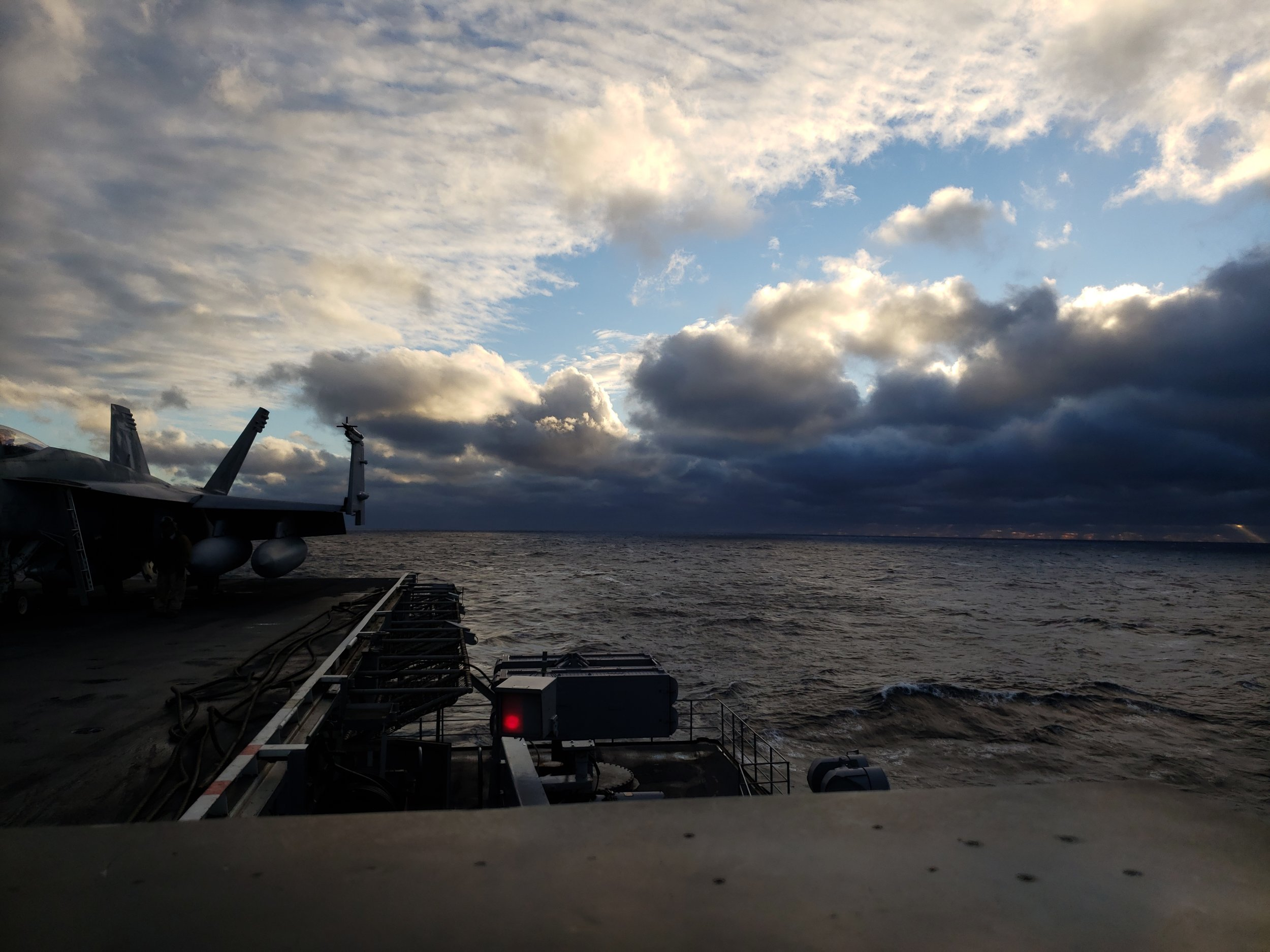 View off the back of the carrier in January 2019 - Justin Grofik | @scraps_fighter