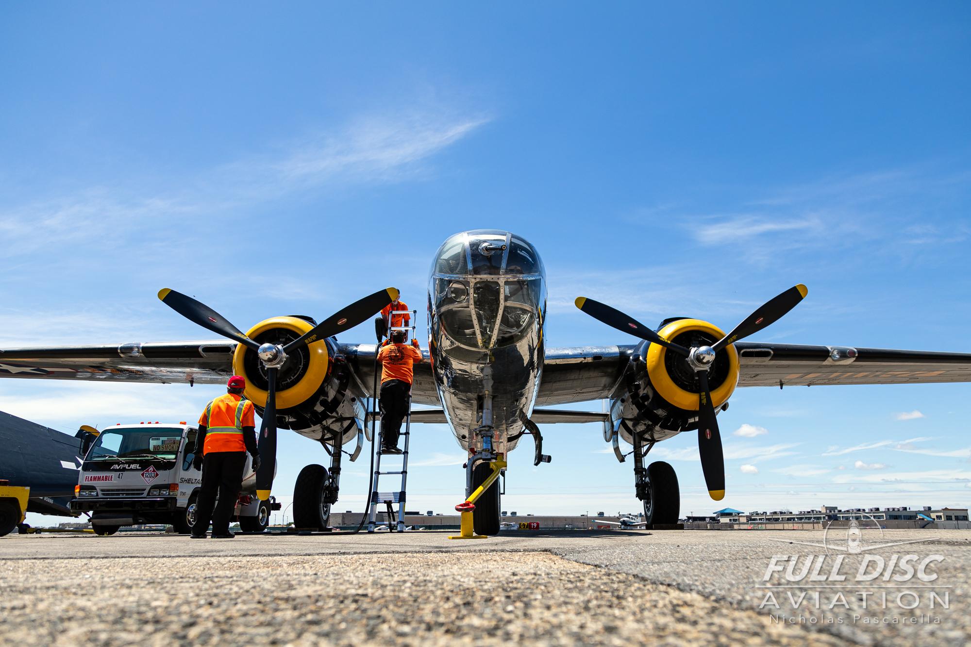 americanairpowermuseum_nicholaspascarella_nickpascarella_fulldiscaviation_legendsofairpower2019_aviation_warbird_b25mitchelbomber_static_headon.jpg