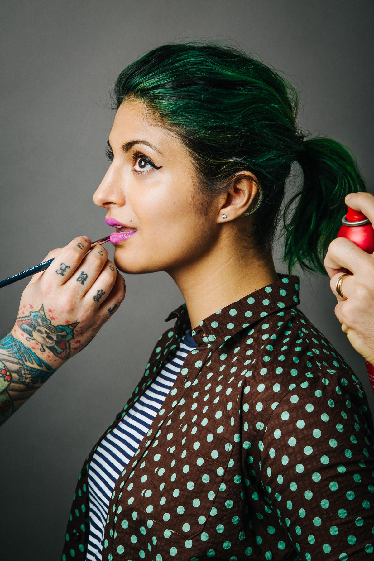 Punk Beauty for NYLON