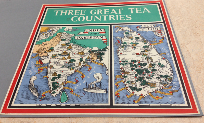 Index card: Three Great Tea Countries (1949). CUL Map Room.