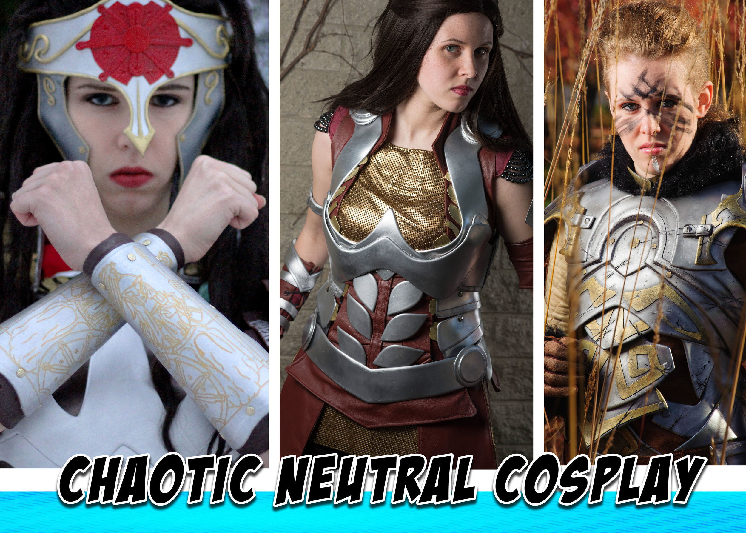 "Chaotic Neutral Cosplay - Chaotic Neutral Cosplay started cosplaying with the comic version of Marvel's Lady Sif... and now has three versions of Sif, way too many other cosplays and a slight obsession for dressing up as strong characters with big pointy things!CNC has won several awards for costuming, including first places and best in shows, and recently started competing in ""higher stress"" cosplay circles - including C2E2 in Chicago where CNC won 1st in the Armor division with their Skyrim armor.Before cosplay, CNC worked on replica costumes and dabbled in film and voice acting, appearing in ""Glee"" and ""Private Practice"" when living in LA and being featured on several radio shows after moving back to Michigan. In the spare time (between new cosplays!), CNC enjoys writing, sketching and ballroom dance. Please come and say hello! CNC accepts hugs and gifts of small Groot-like trees (but only if they dance!)https://www.facebook.com/chaoticneutralcosplay/https://www.instagram.com/chaoticneutralcosplay/"