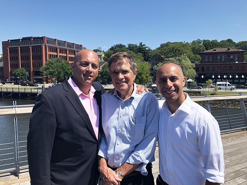 Executive Director Cliff Wood, former Executive Director Dan Baudouin, Providence Mayor Jorge Elorza