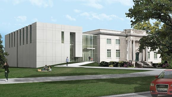 Architect rendering of $9.2M, 16,000-sq.-ft. expansion of the National Music Museum, to open 2021