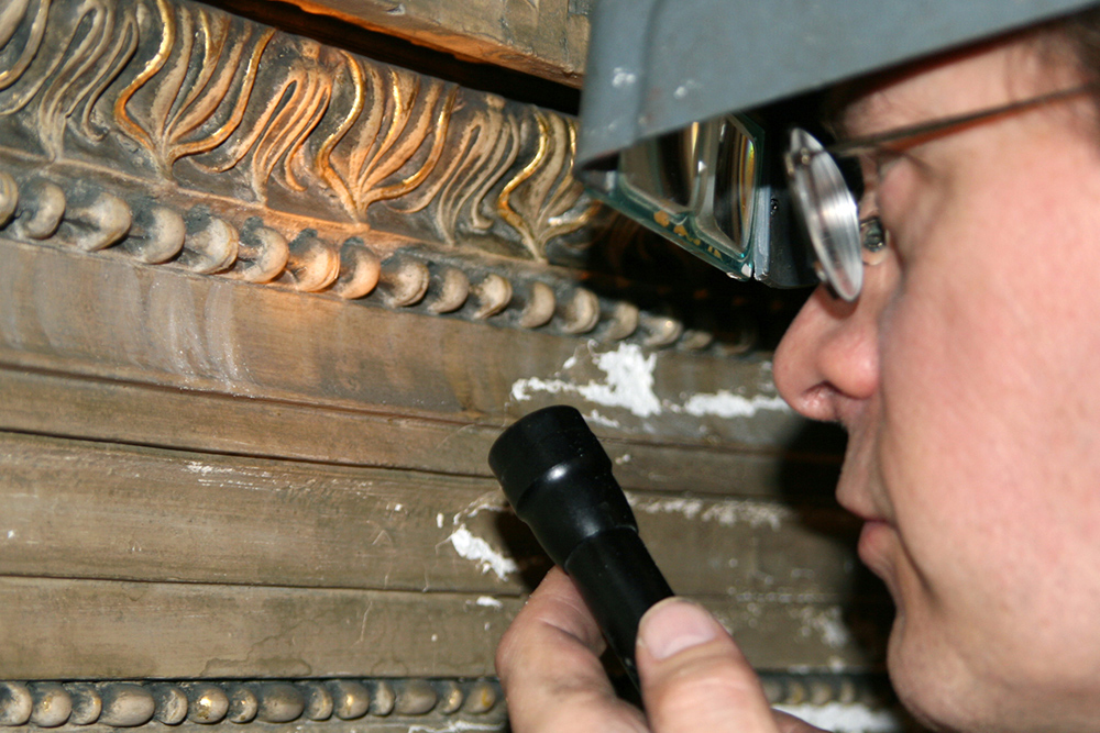 Evaluating plaster and gilding condition
