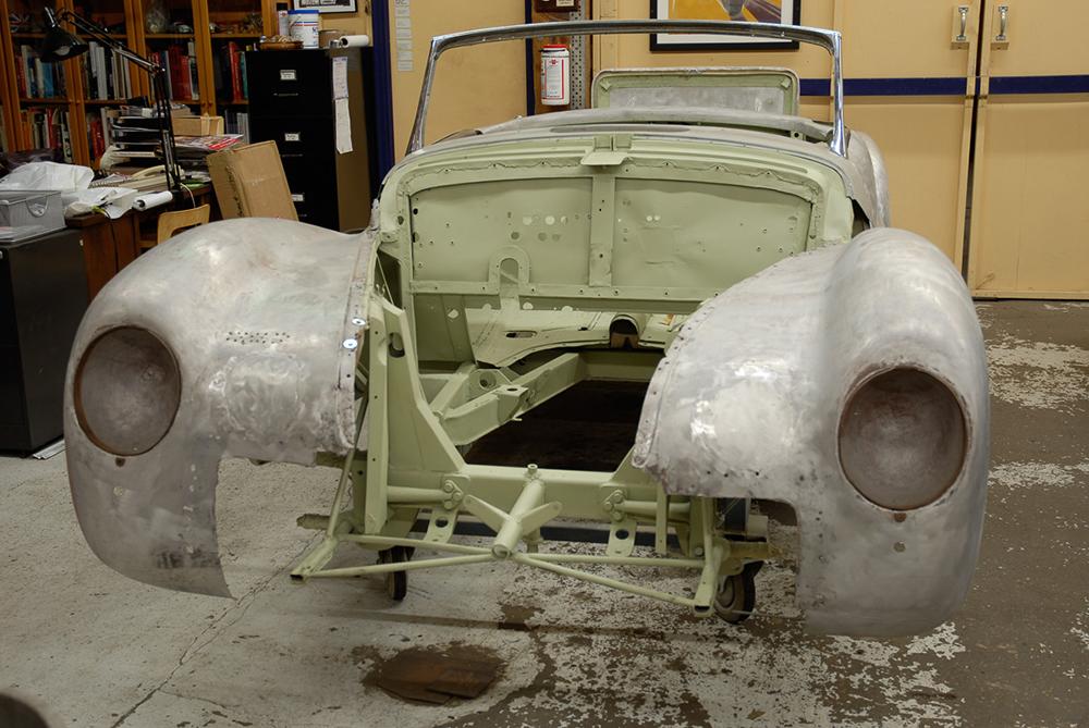 Photo:  1943 Alfa Romeo 6C 2500 arrives at Cooper Technica in Chicago. Photo courtesy of David Cooper.