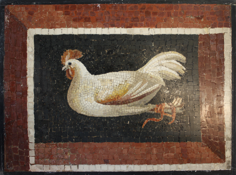 "Photo:  ""Chicken"" before conservation; detail"