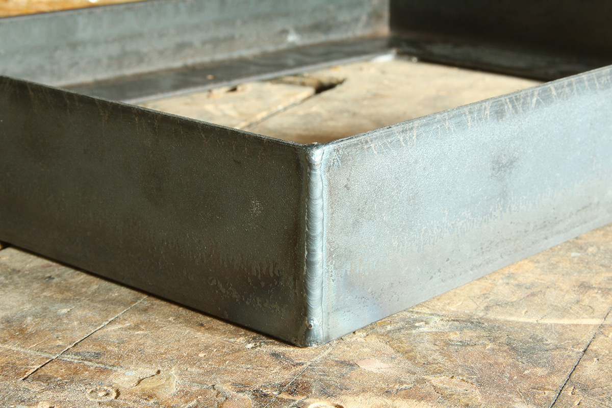 Example of a raw steel float frame