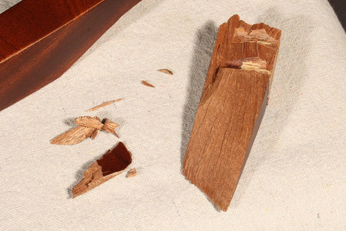 Dowels were not broken, only solid wood was compromised