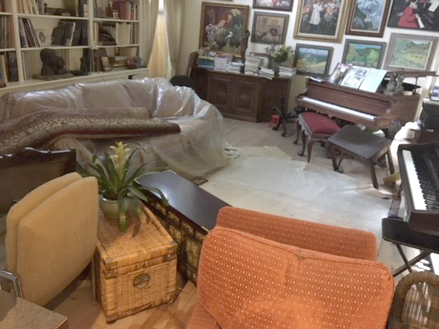 Walking into the front door, everything had changed. The water line was over three feet high. The furniture had changed rooms, shifted positions…