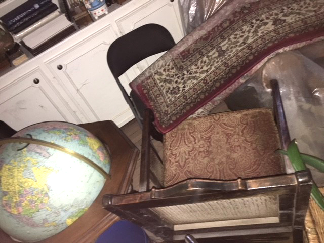 Everything below four feet in the house was gone. My great grandparent's furniture…