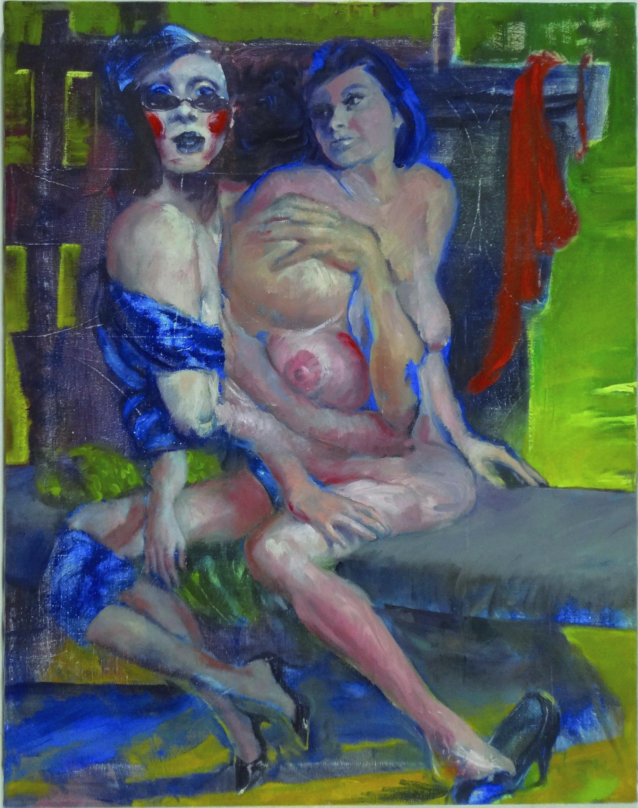 "Subterranean Way 2015-17, 28 x 22"""