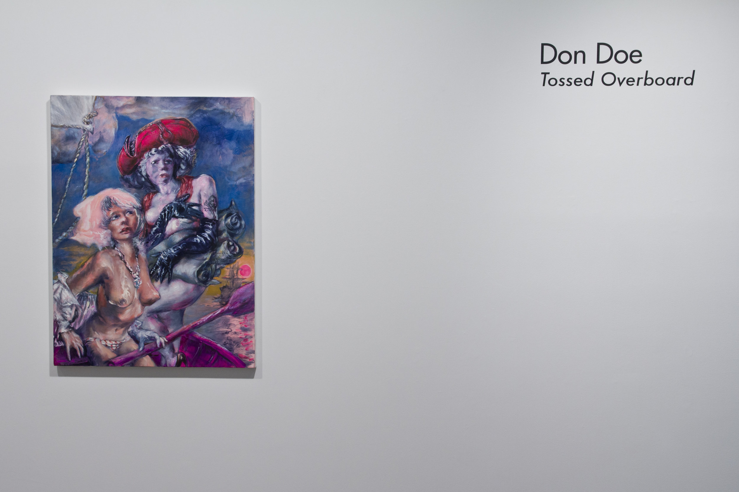 Don Doe, Boatswain and the Officer (2011) Oil On Linen 30h x 40w in (76.2h x 101.6w cm)