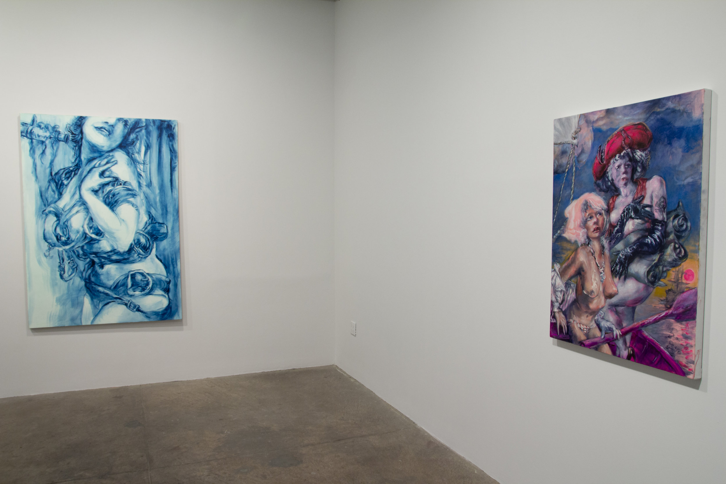left: Blind Eye (2012) Oil On Linen 68h x 48w in (172.72h x 121.92w cm)