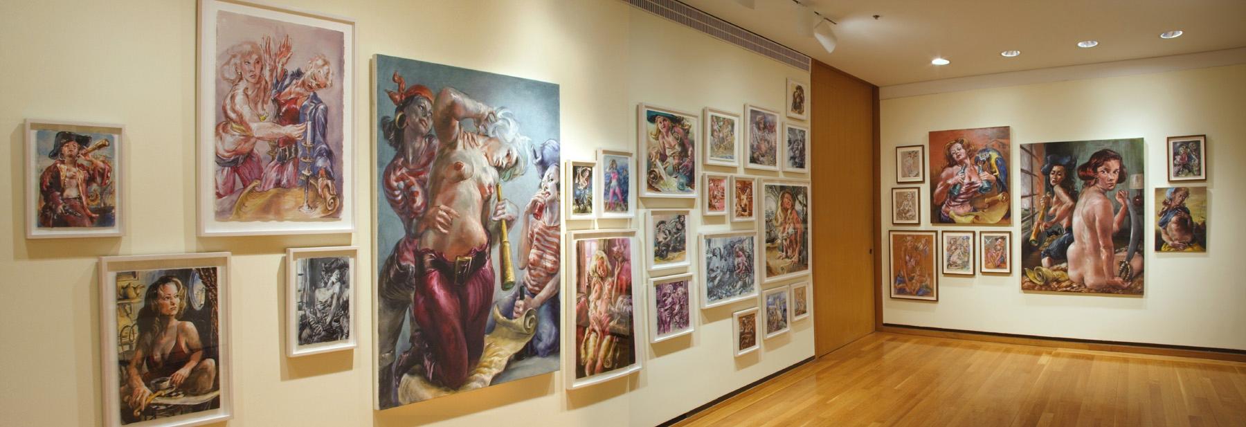 Left half of gallery installation