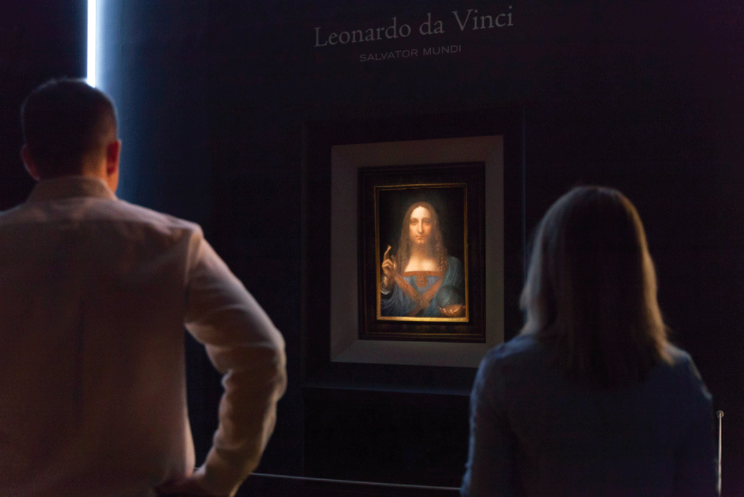 Salvator Mundi on display in New York