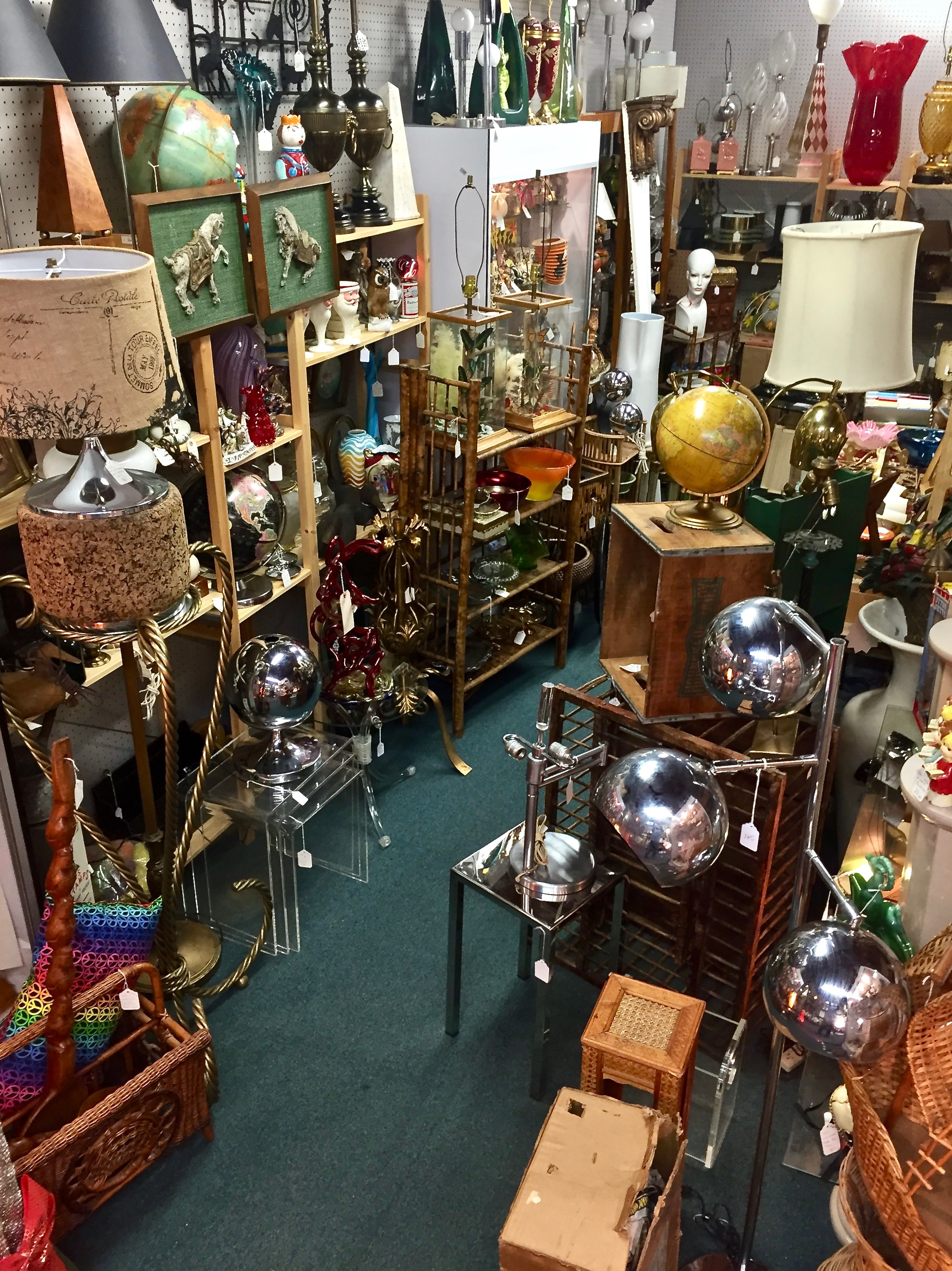 ANOTHER TIME ANTIQUES   Len Campobello began selling antiques in Manhattan in 1991, and for 22 years set up on weekends at The Garage Antique Center. Len specializes in mid-century modern, antiques and the unusual, and is particularly mad for Christmas and other holiday items. Another Time Antiques also offers timeless clothing from 1800s Victorian to 1980s vintage. Len's booths are located on the balcony and 2nd floor of the Summit Antiques Center. He also conducts house and tag sales and would be happy to help you out if you or downsizing or liquidating an estate. Contact Len at Nnjtop4u@aol.com.