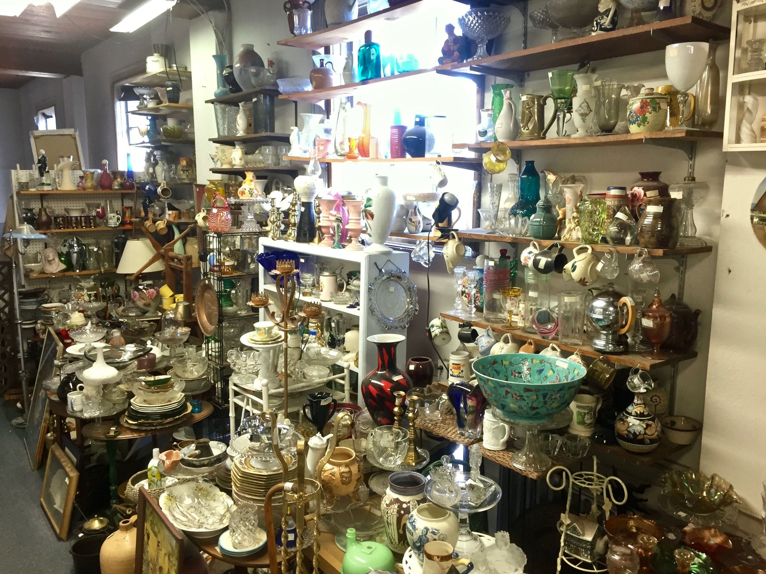 RICHARD'S WALL   Richard has been buying and selling antiques for over four decades, and offers an eclectic assortment on the 2nd floor balcony of The Summit Antiques Center. Visit Richard's Wall at the top of the stairs for surprising and unusual finds. Thank you.