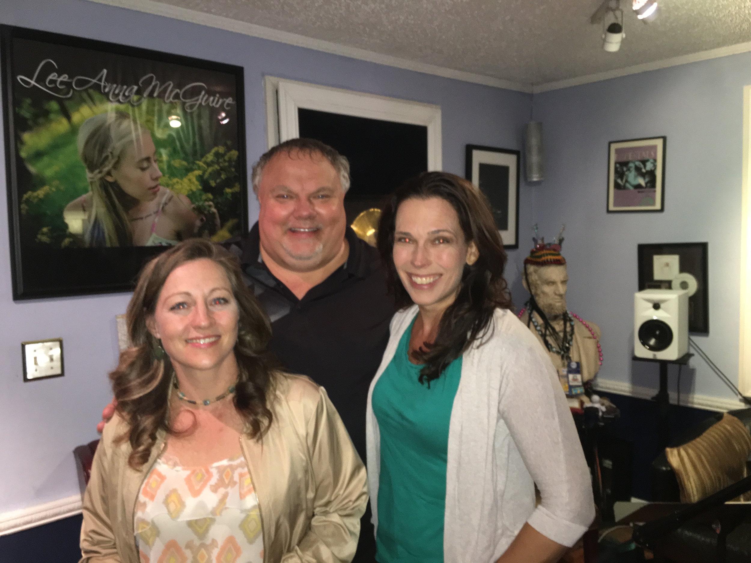 JP, Julie Tapkin at studio.JPG