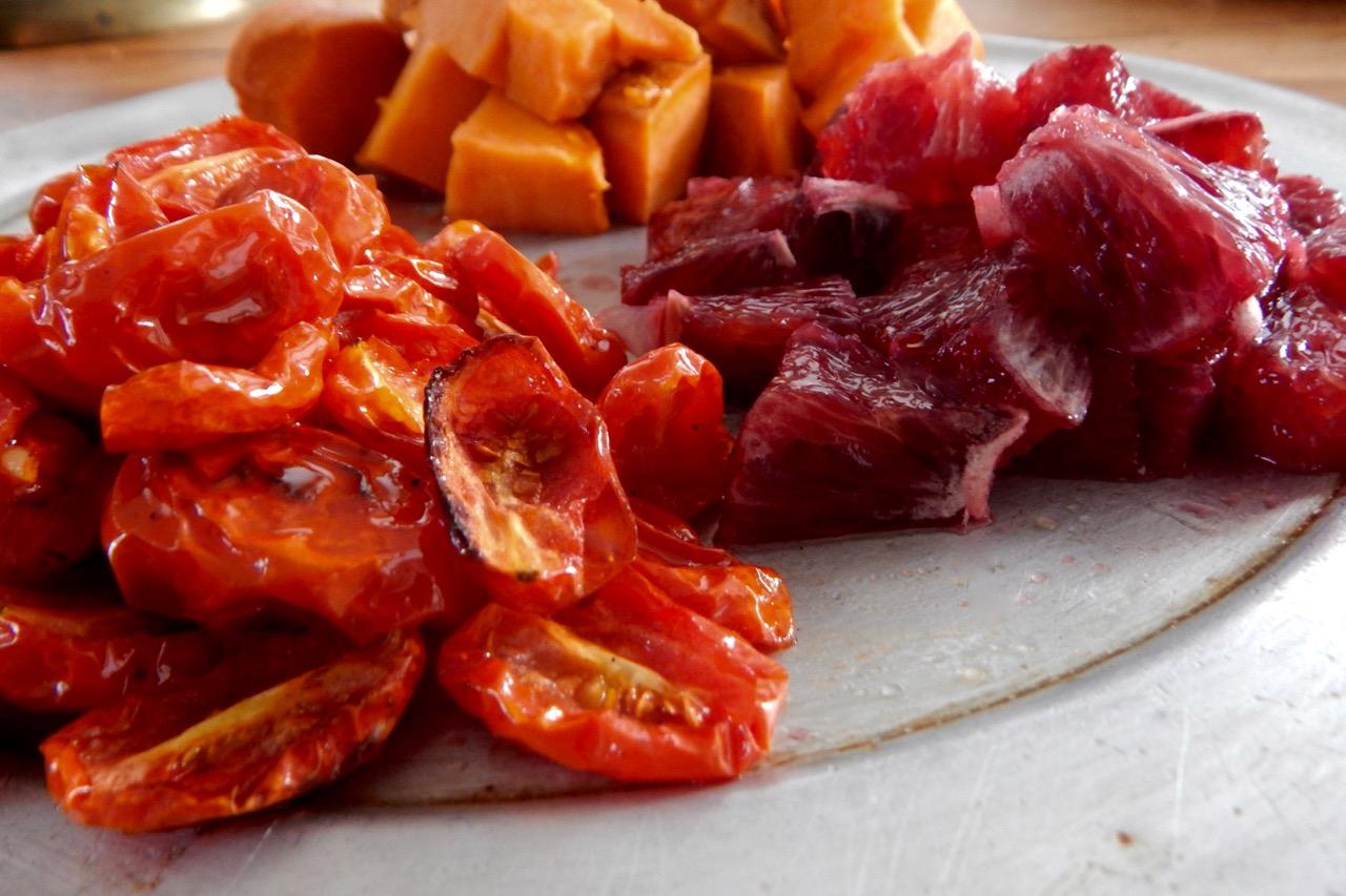 sweet potato + blood orange salad | a raisin + a porpoise