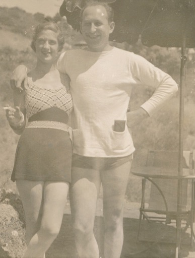 My grandparents, who for various reasons will not be recording a TED talk on parenting, and their rarely-seen knees.