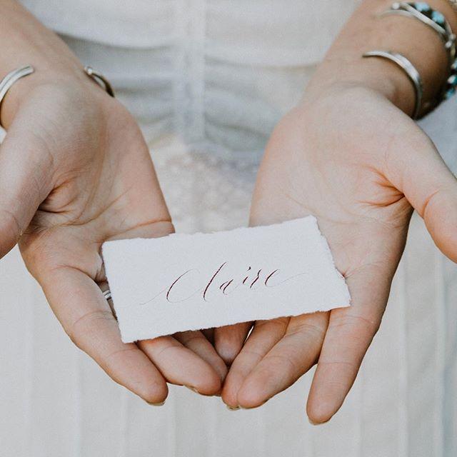 Handmade paper + burnt terracotta ink // Loving this moment captured by @jordynvixiephotography