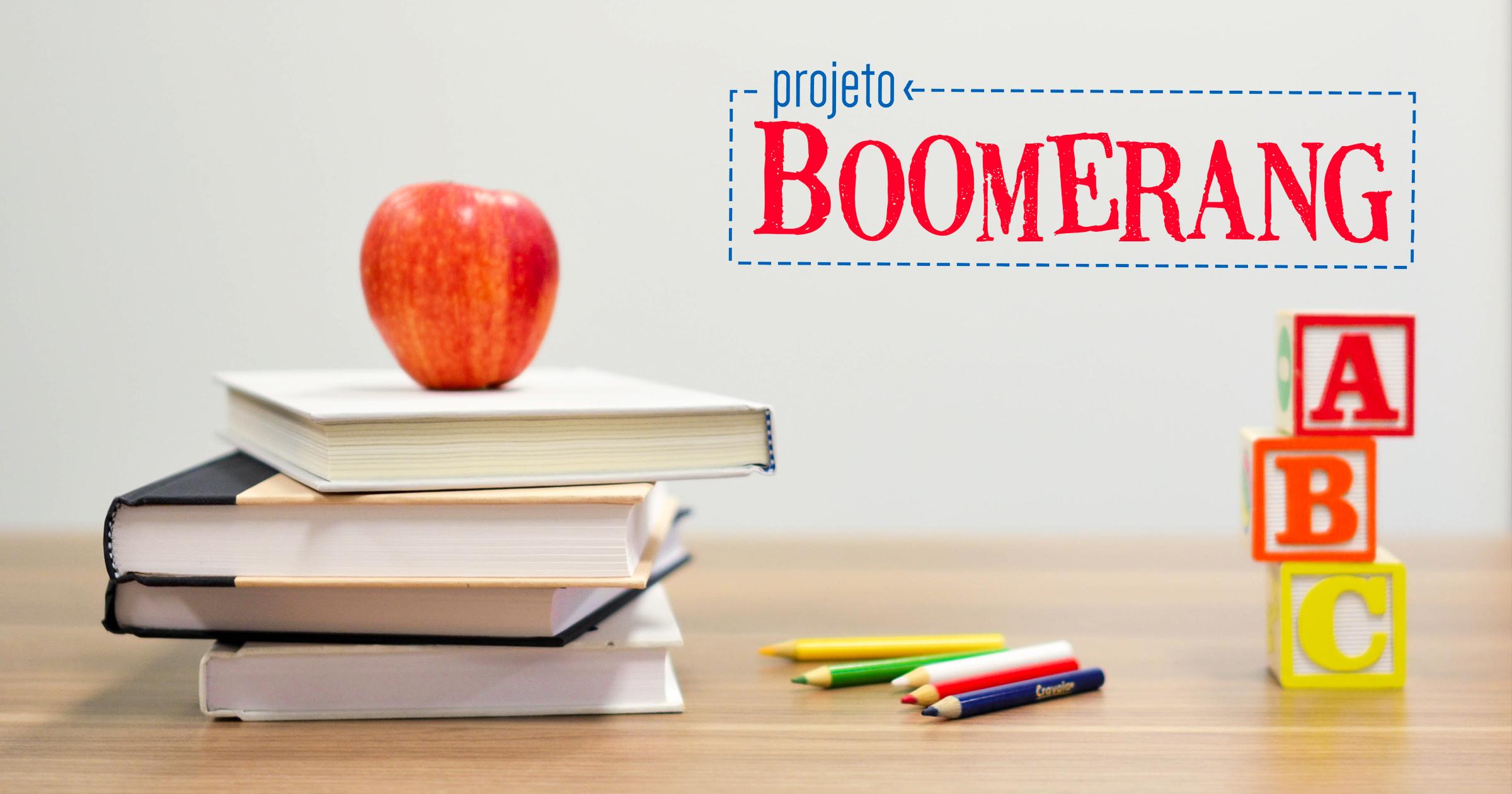 Projeto Boomerang   Um projeto de educação pelos pares a nível nacional, que fomenta a relação entre estudantes de medicina e alunos de diferentes escolas, preferencialmente as de origem dos alunos formadores.