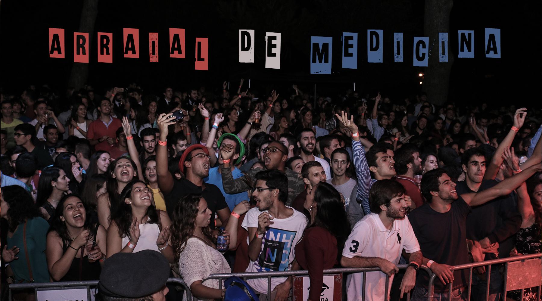 Arraial de Medicina e Farmácia   A maior festa da faculdade ocorre todos os anos no mês de Outubro em colaboração com a Faculdade de Farmácia da Universidade de Lisboa. Uma noite de festa e muito pimba!