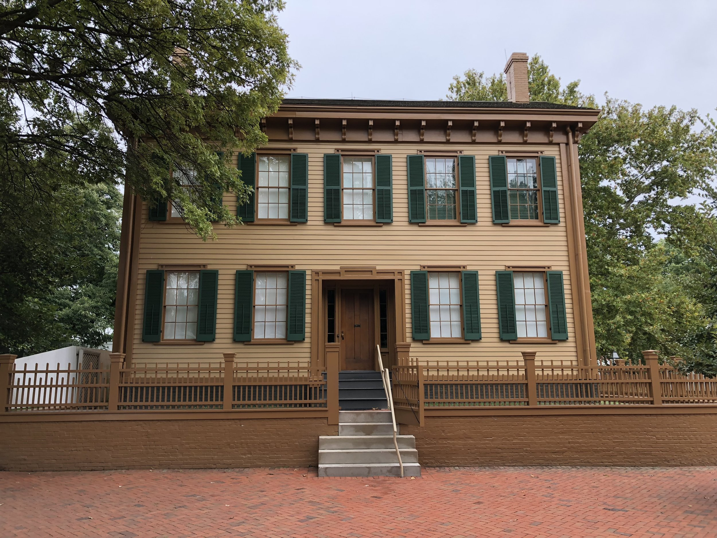 Abraham Lincoln's home in Springfield, Illinois. Born in Kentucky but this is where he came of age as a lawyer and politician. Remarkably well maintained with about 60% of the furnishings being originals that belonged to Lincoln and his family.
