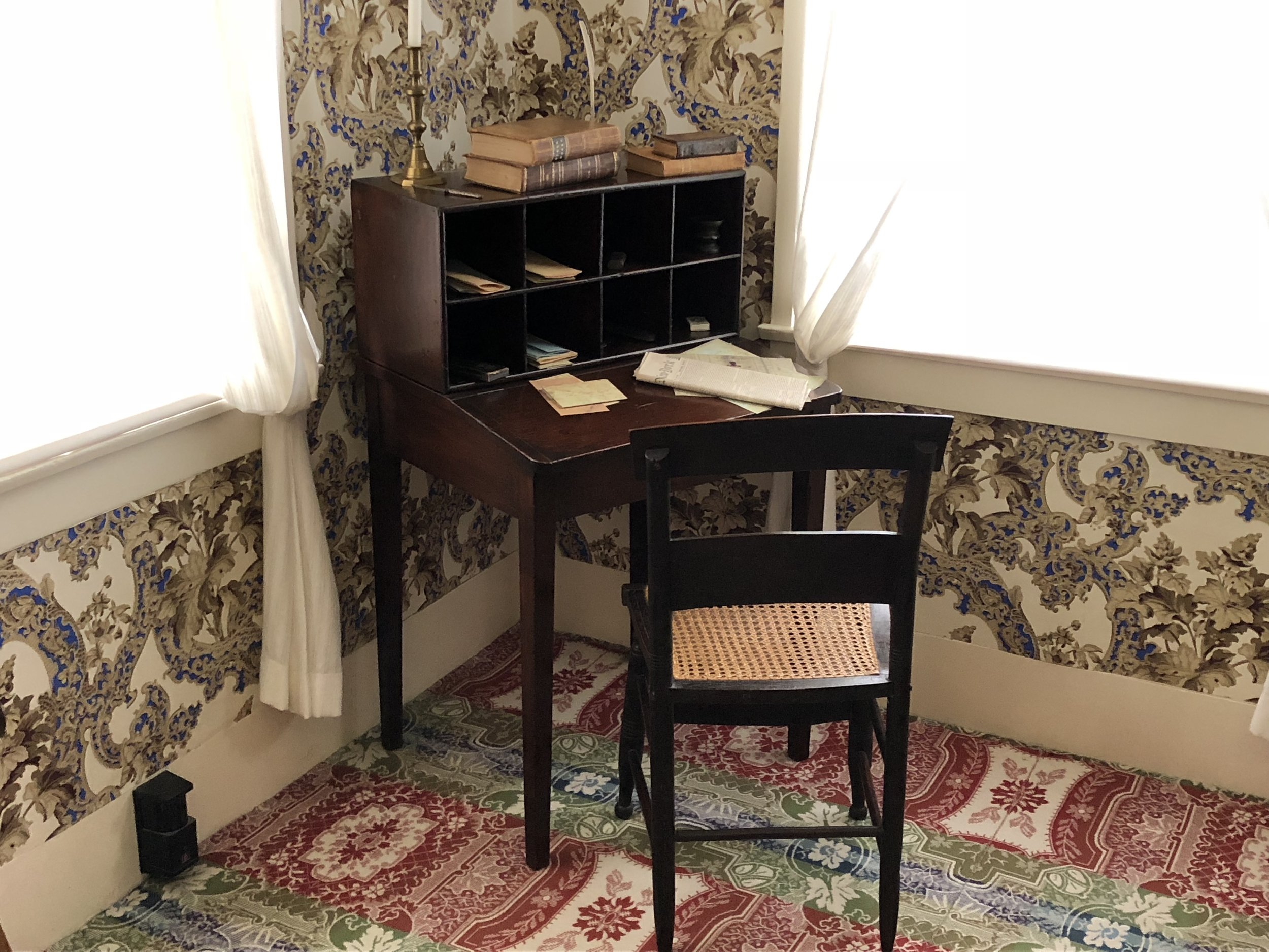 "Lincoln's desk in his house which seemed a bit awkward for a 6' 4"" man."