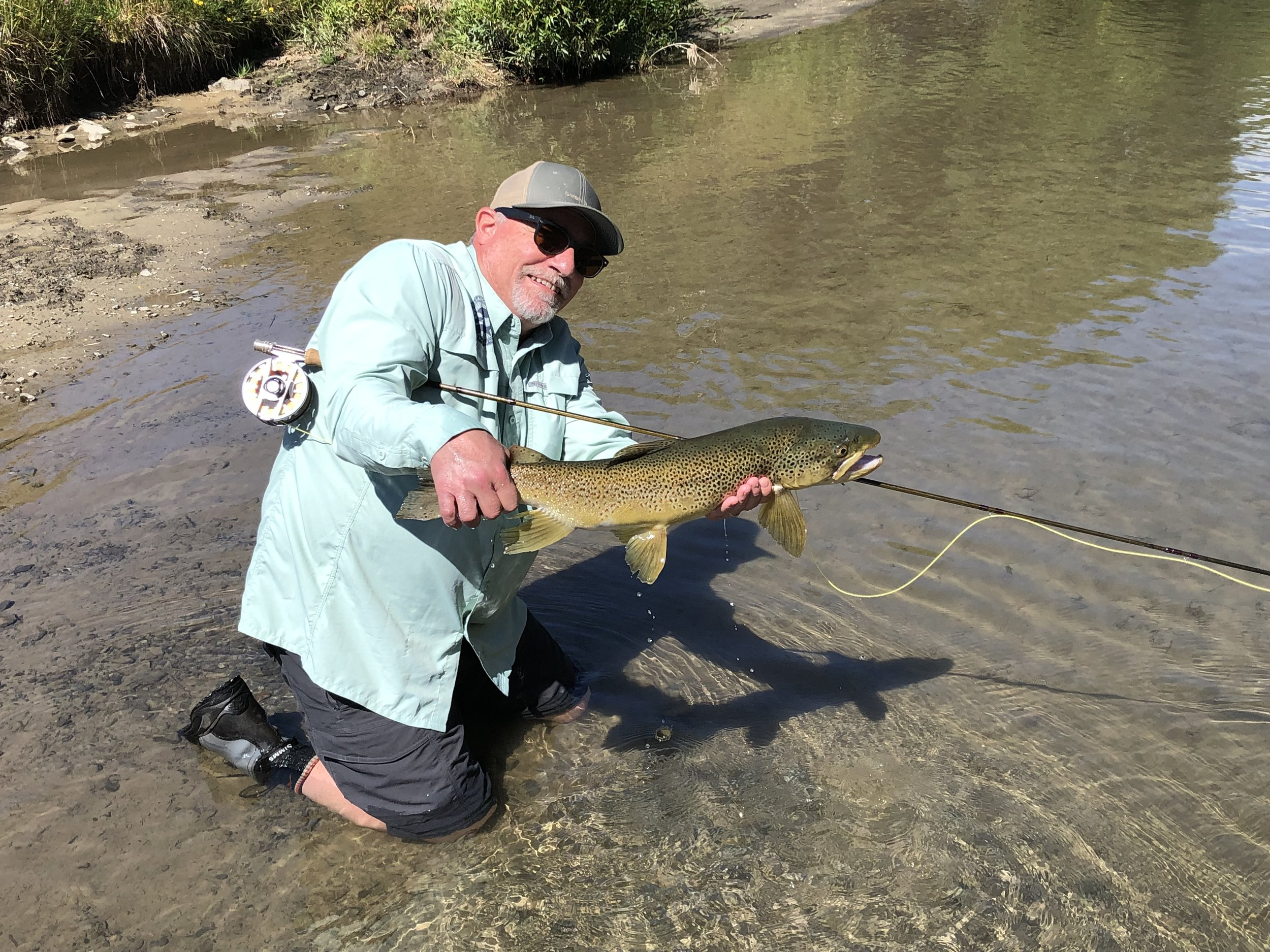 J's 28 inch brown (caught on his 59th birthday!)