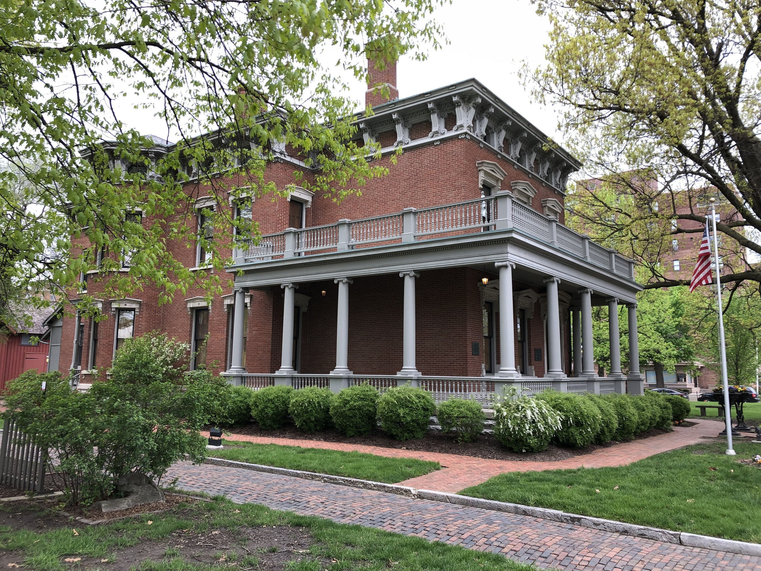 Finally, I visited Benjamin Harrison's house in Indianapolis. Even though he was born and raised in Ohio, the 23rd President became a Hoosier. He was the grandson of William Henry Harrison.