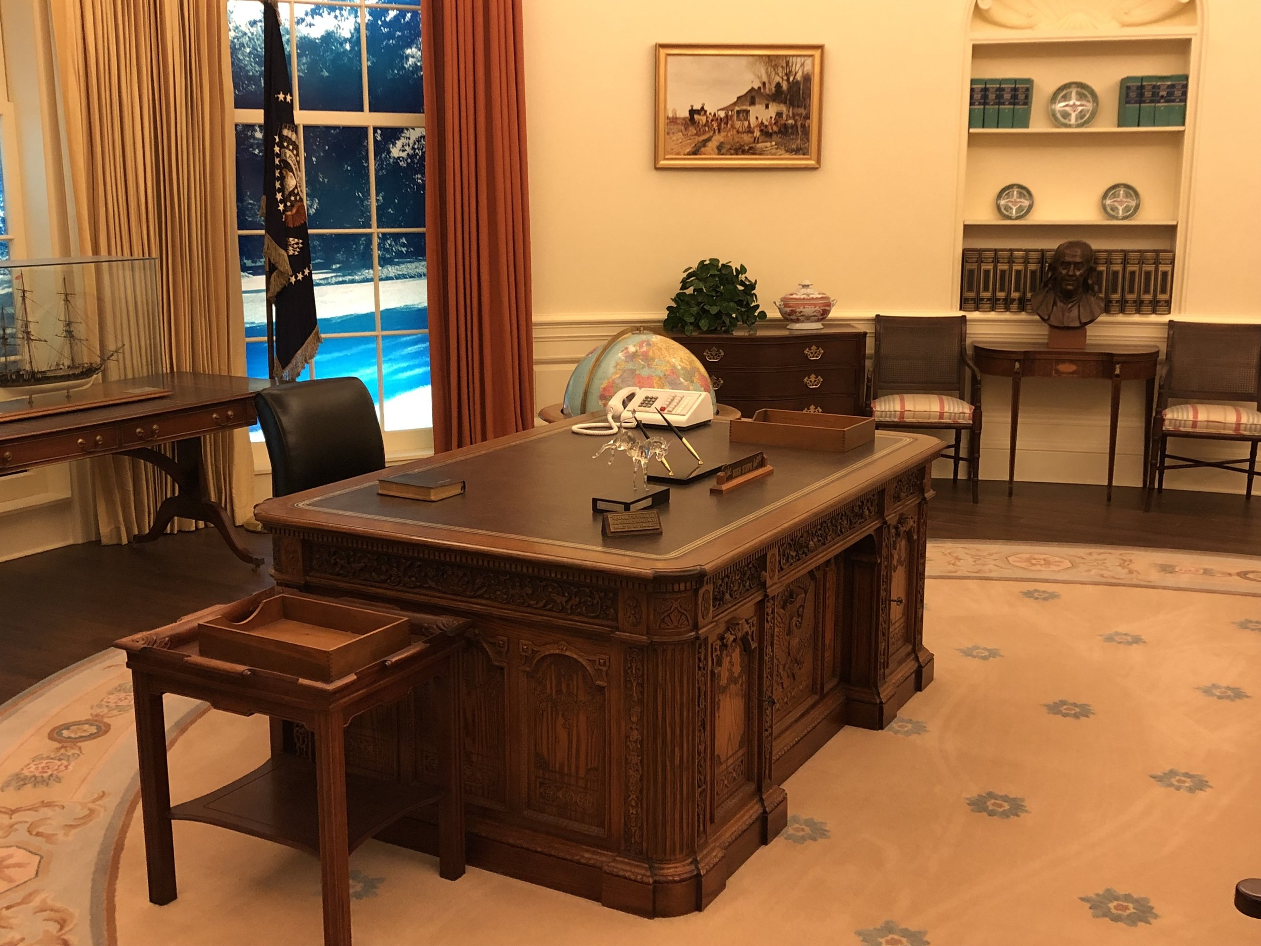 They have one of the more faithful reproductions of the Oval Office I've run across.