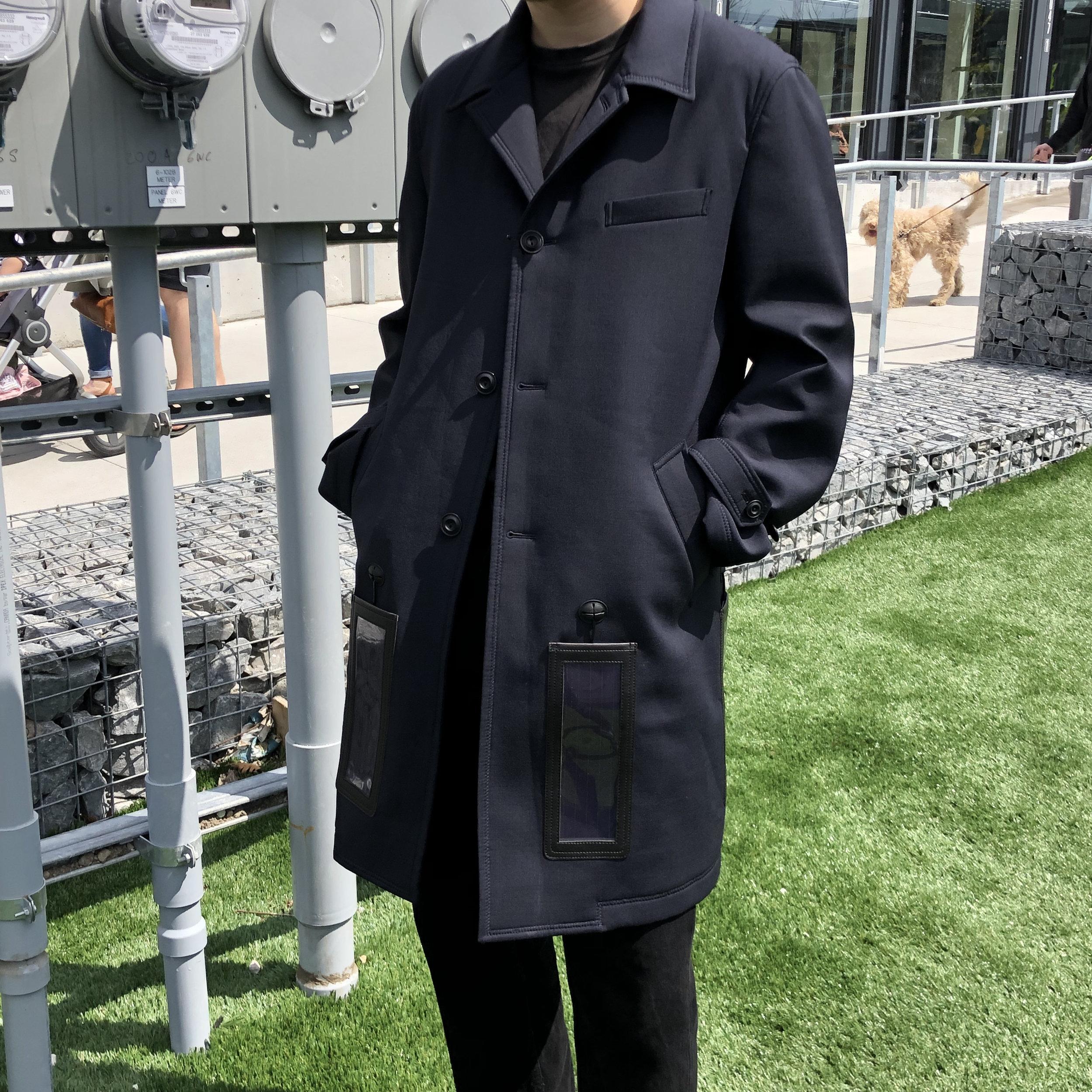 FEATURED: Junya Watanabe COMME des GARÇONS MAN Solar Panelled Neoprene Coat with External Battery Charger