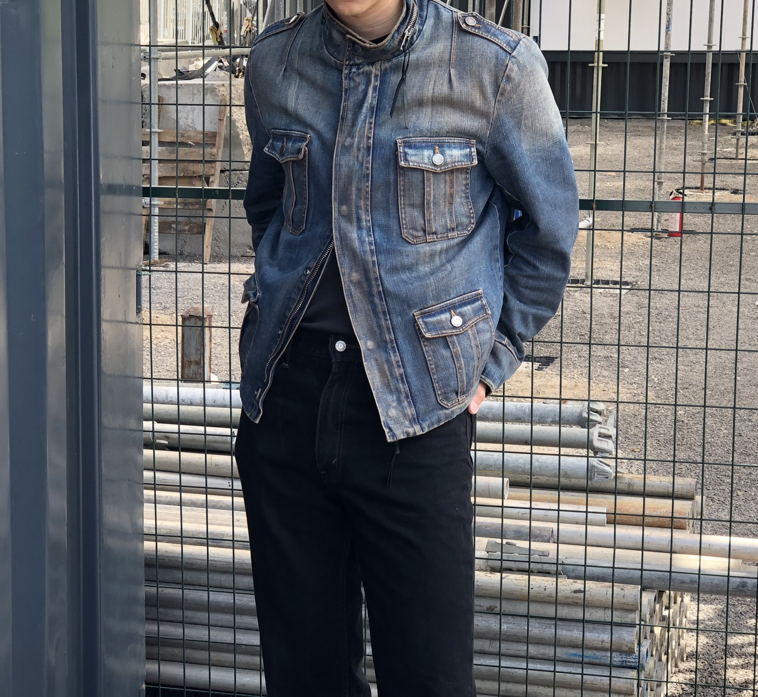 """FEATURED: Dior Homme AW05 """"Razorlight In The Morning"""" M-65 style cargo denim jacket"""